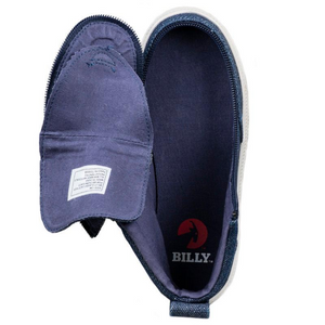 Billy_Footwear_Kids_High_Top_Blue_Denim_Glitter_colour_Canvas_Shoes_special_needs_shoes_open