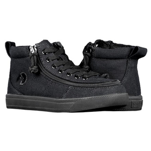 Billy Footwear (Kids) WDR Fit - High Top Black to the Floor Jersey Shoes