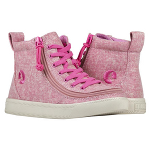 billy_footwear_adaptive_shoes_for_children_special_kids_company_billy_kids_high_top_heather_pink_canvas_shoes_main