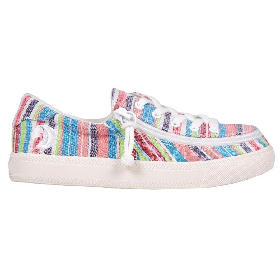 billy_footwear_kids_pink_woven_stripes_low_top_canvas_shoes_adaptable_for_special_needs
