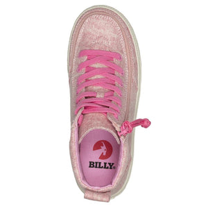 billy_footwear_adaptive_shoes_for_children_special_kids_company_billy_kids_high_top_heather_pink_canvas_shoes_top