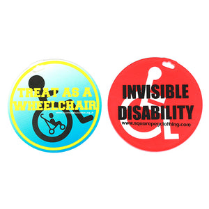 square_peg_invisible_disability_and_treat_as_wheelchair_user_badge_to_clip_on_buggy_special_needs