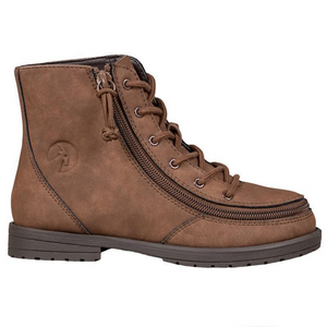Billy_Footwear_Kids_Faux_Leather_Brown_colour_Boot_side_special_needs_shoes
