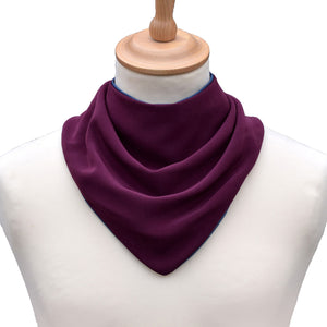 CareDesign_neckerchief_for_older_children_and_adults_with_special_needs_absorbent_dribble_bib_aubergine_front