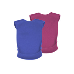 CareDesign_pink_or_blue_tabard_for_toddlers_kids_adults_with_special_needs_bib_with_feeding_pouch