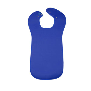 CareDesign_small_tabard_for_children_adults_special_needs_dribble_bib_blue_popper_fastening