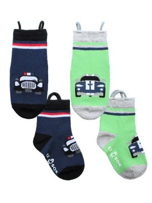 Ez_Socks_for_special_needs_toddlers_children_seamless_toes_anti_slip_pull_up_loops_cars_boys