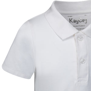 KayCey_Adaptive_clothing_for_older_children_with_special_needs_Polo_with_Tube_Access_White_Collar