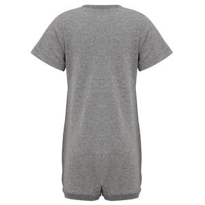 KayCey_Adaptive_clothing_for_older_children_with_special_needs_Short_Sleeve_with_Tube_Access_Grey_Back
