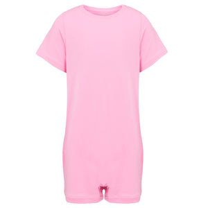 KayCey_Adaptive_clothing_for_older_children_with_special_needs_Short_Sleeve_Pink_Front