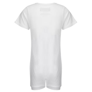 KayCey_Adaptive_clothing_for_older_children_with_special_needs_Short_Sleeve_with_Tube_Access_White_Back
