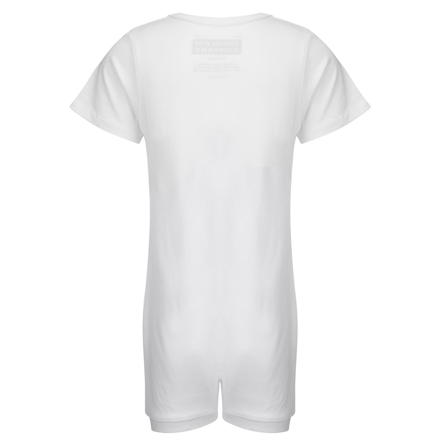 KayCey_Adaptive_clothing_for_older_children_with_special_needs_Short_Sleeve_with_Tube_Access_White_Front