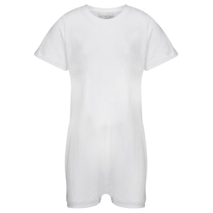 KayCey_Adaptive_clothing_for_older_children_with_special_needs_Short_Sleeve_White_Front