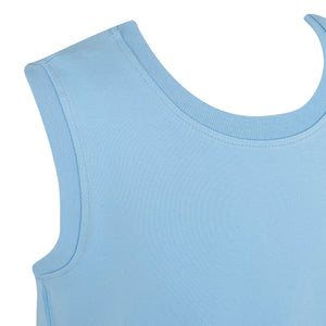 KayCey_Adaptive_clothing_for_older_children_with_special_needs_Sleeveless_with_Tube_Access_Blue_Shoulder