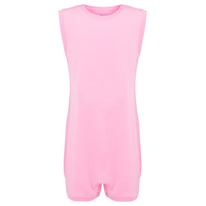 KayCey_Adaptive_clothing_for_older_children_with_special_needs_Sleeveless_Pink_Front