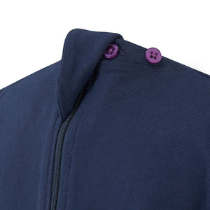 KayCey_Adaptive_clothing_for_older_children_with_special_needs_Zip_Back_Navy_Button_Detail