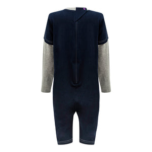 KayCey_adaptive_clothing_for_special_needs_kids_and_older_children_zip_navy_grey_back_of_jumpsuit