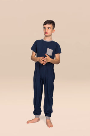 KayCey_Adaptive_clothing_for_older_children_with_special_needs_Short_Sleeve_long_leg_lifestyleimage
