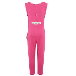 Scratch Sleeves Button Back Ankle Length Dungarees