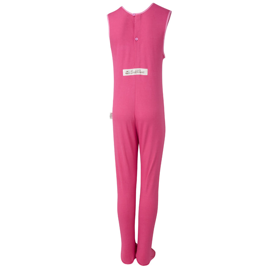Scratch_sleeves_footed_dungarees_with_closed_feet_to_stop_scratching_girls_pink_front