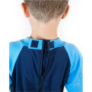 Seenin_footed_sleepsuit_with_closed_feet_blue_pajamas_for_boys_with_special_needs_with_zip_back_hook_and_loop_fastening