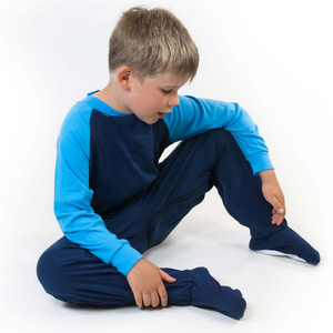Seenin_zip_back_footed_sleepsuit_with_closed_feet_blue_pajamas_for_special_needs_stops_access_to_nappies