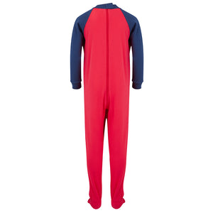 Seenin_zip_back_footed_sleepsuit_with_closed_feet_red_pajamas_for_boys_with_special_needs_back