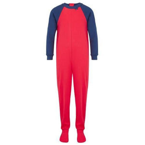 Seenin_zip_back_footed_sleepsuit_with_closed_feet_red_pajamas_for_boys_with_special_needs_front