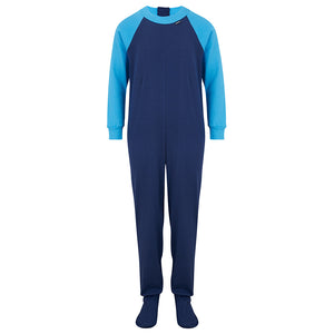 Seenin_zip_back_footed_sleepsuit_with_closed_feet_blue_pajamas_for_boys_with_special_needs_front