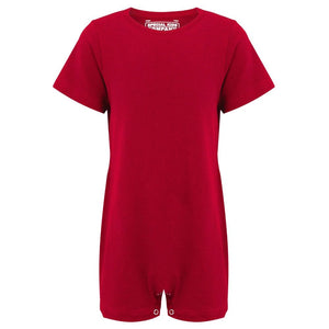 KayCey_Adaptive_clothing_for_older_children_with_special_needs_Short_Sleeve_Red_Front