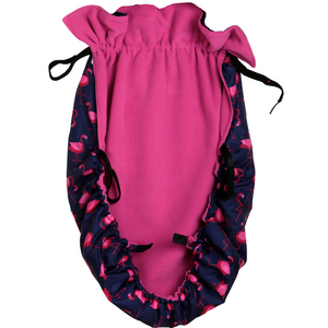 BundleBean_wheelchair_cosy_cover_adults_flamingo_fleece_lined_waterproof_universal_fit