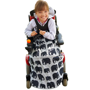 BundleBean_wheelchair_cosy_cover_kids_elephants_fleece_lined_waterproof_for_special_needs