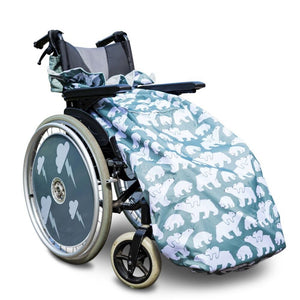 BundleBean_wheelchair_cosy_cover_adults_polar_bear_fleece_lined_waterproof_universal_fit