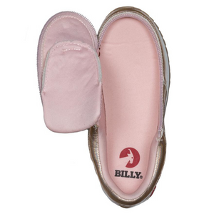 billy_footwear_adaptive_shoes_for_children_special_kids_company_billy_kids_rose_gold_metallic_trainers_open