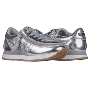 billy_footwear_adaptive_shoes_for_children_special_kids_company_billy_kids_silver_metallic_trainers_front.