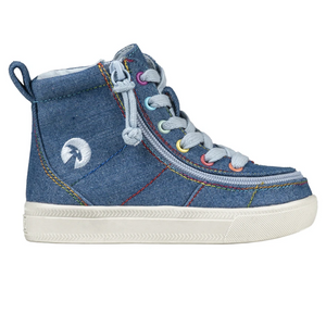 billy_footwear_toddler_kids_denim_rainbow_thread_colour_high_top_canvas_shoe_1000x1000_special_needs_shoes_side