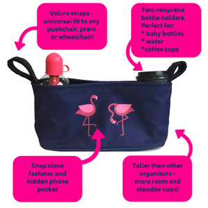 BundleBean_wheelchair_organiser_flamingo_storage_bag_features_and_benefits