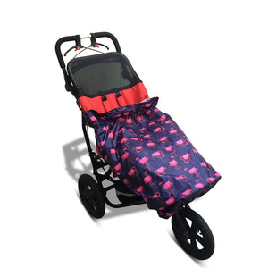 BundleBean_kids_girls_wheelchair_raincover_flamingo_universal_fit_waterproof_soft_cover