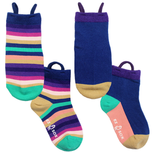 Ez_Socks_for_special_needs_toddlers_children_seamless_toes_anti_slip_pull_up_loops_multi_stripe_girls