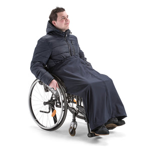 nicosy_wheelchair_man_wearing_waterproof_resistant_cover_navy