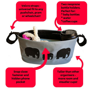 BundleBean_wheelchair_organiser_elephant_storage_bag_features_and_benefits