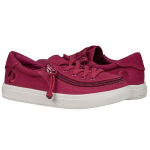 billy_footwear_kids_wine_colour_low_top_canvas_shoes_adaptable_for_special_needs