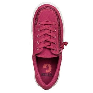 billy_footwear_kids_wine_colour_low_top_canvas_shoes_traditional_lace_up