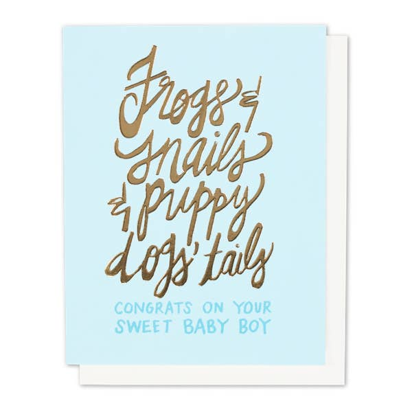 Frogs & Snails Single Gold Foil + Embossed Card