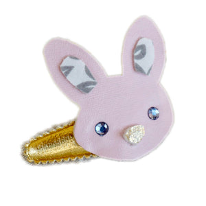Bubbles and Braids - Bunny Hair Clip - Pink