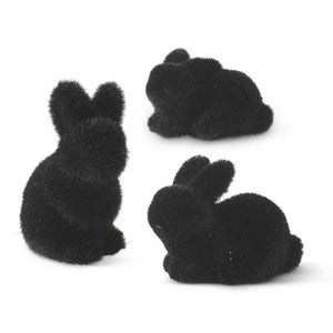 Black Mossy Flocked Bunnies