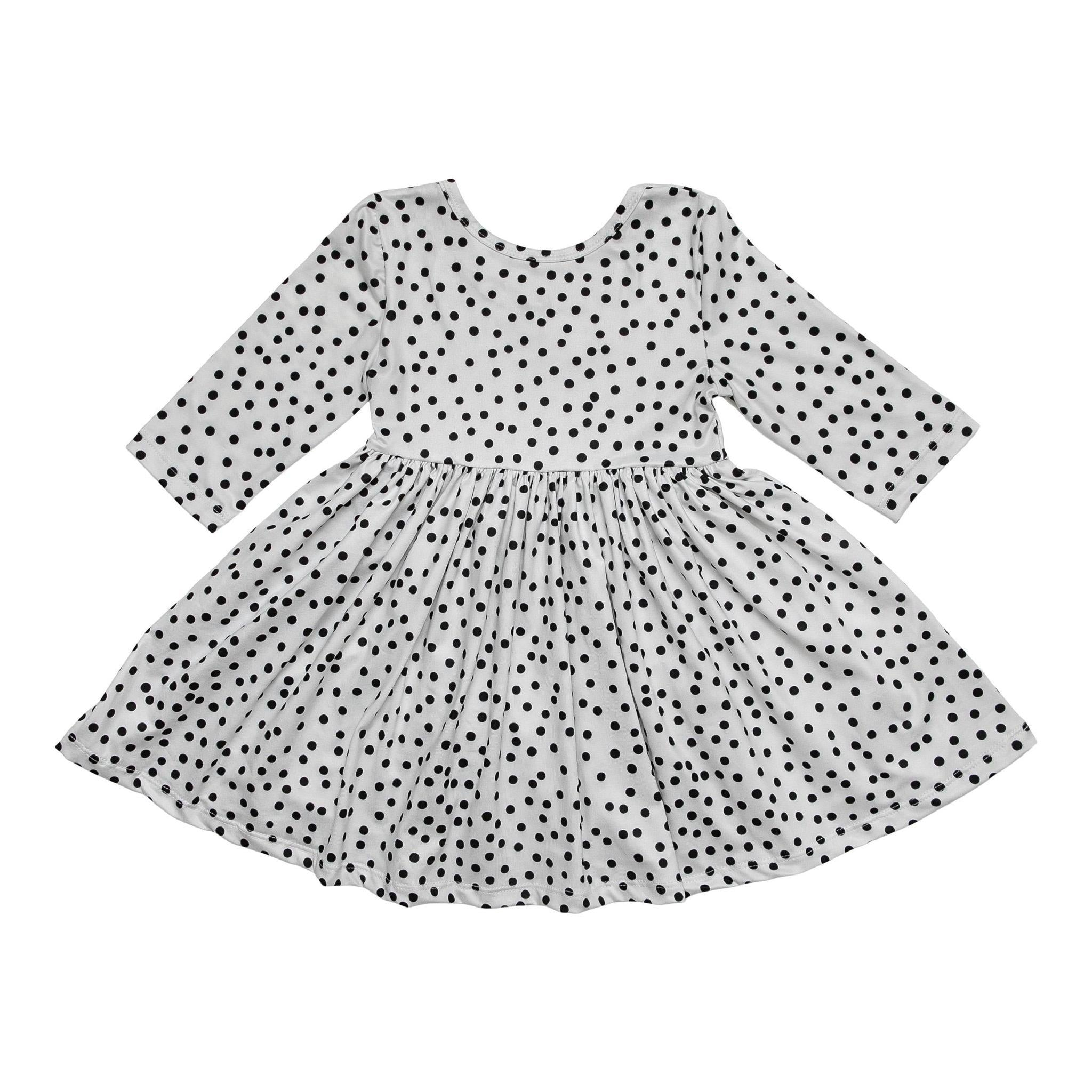 Scattered Dot Twirl Dress