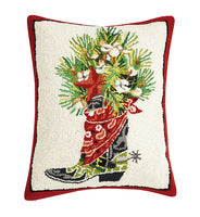 Holiday Boot Pillow