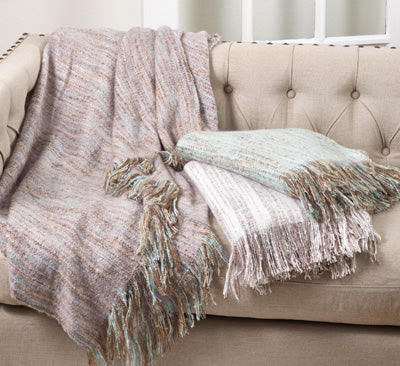 Throw - Faux Mohair Aqua