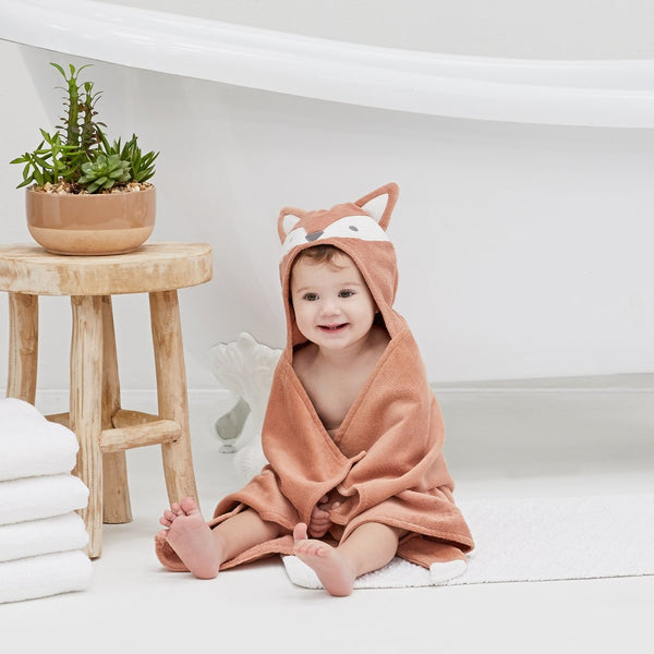 Hooded Baby Bath Wrap - 3 Assorted Styles
